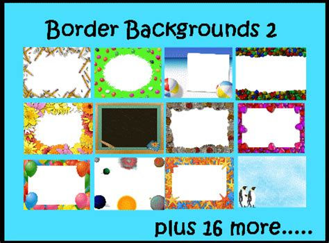 Border Backgrounds 2 Promethean Resource Gallery Pack