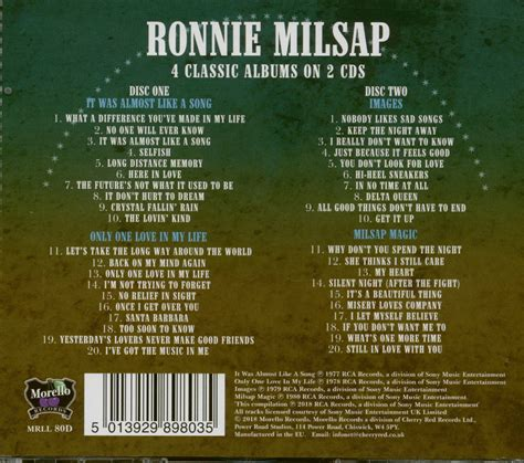Ronnie Milsap CD: It Was Almost Like A Song - Only One