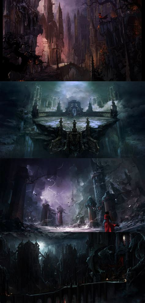 Castlevania: Lords of Shadow 2 concept art is darkly