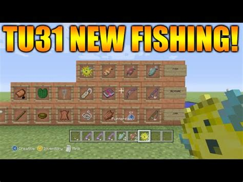 Minecraft Xbox 360 + PS3: Title Update 31 NEW Fishing