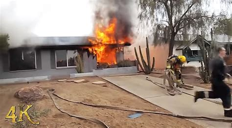 Arrival video from Phoenix house fire - Statter911
