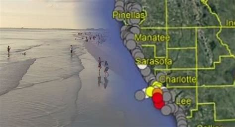 High concentrations of red tide blooming in Lee County