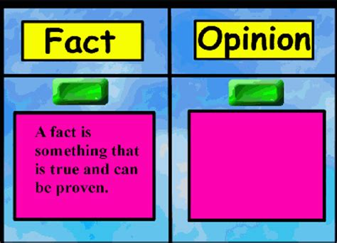 Fact and Opinion Promethean ActivInspire ActivBoard