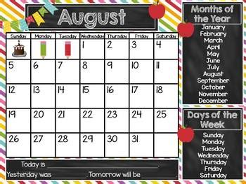 Interactive Whiteboard Calendar for the SMART Board by