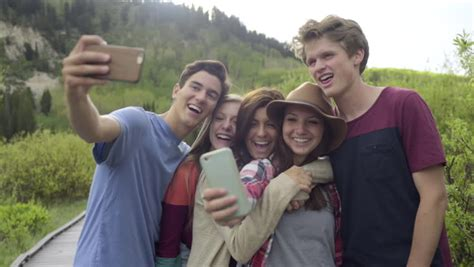 Group of Fun Teens On Stock Footage Video (100% Royalty