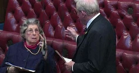 89 YEAR OLD BARONESS STICKS FINGERS UP AT PEER IN HOUSE OF