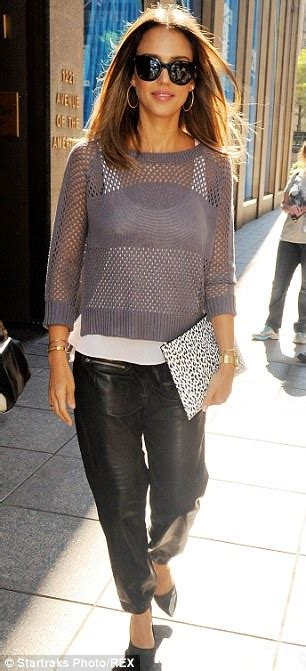 Sin City star Jessica Alba shows off her edgy style in